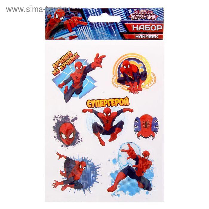"""Наклейки на прозрачной пленке """"Супергерой"""", Человек-Паук"""