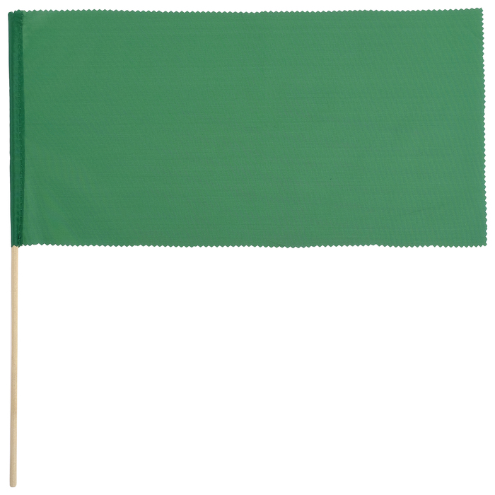 Флажок, длина 40 см, 20х40, цвет зелёный