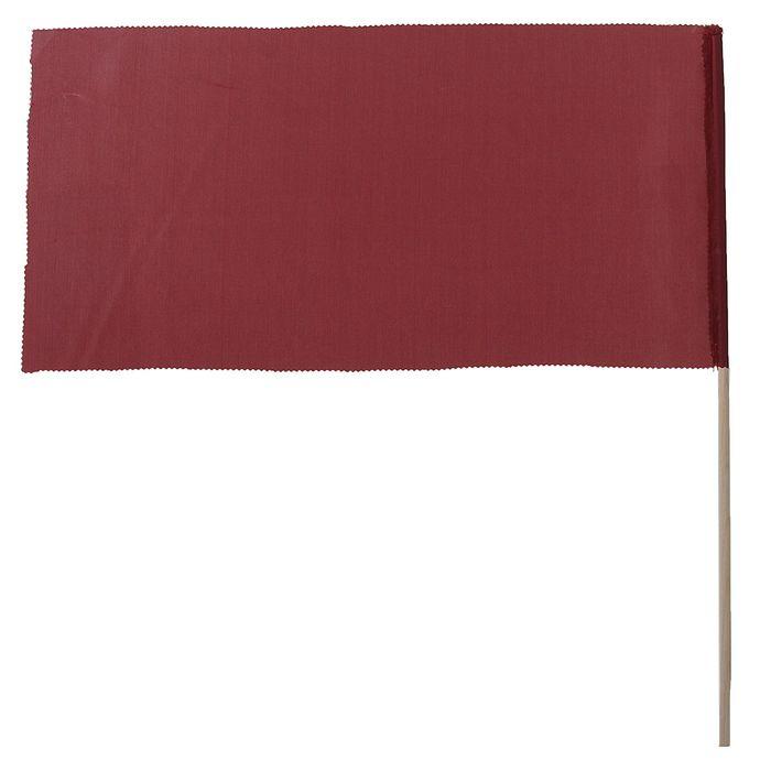 Флажок, длина 40 см, 20х40, цвет бордовый