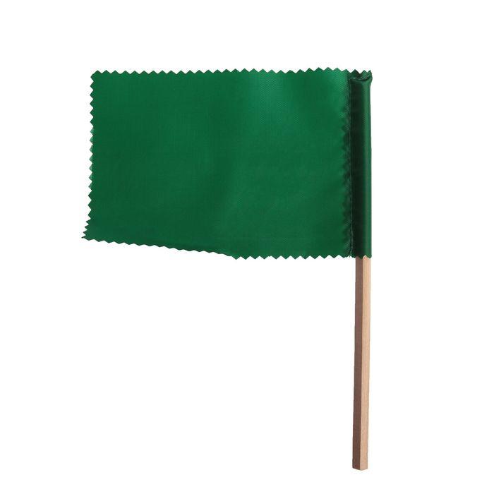 Флажок, длина 20 см, 10х15, цвет зелёный