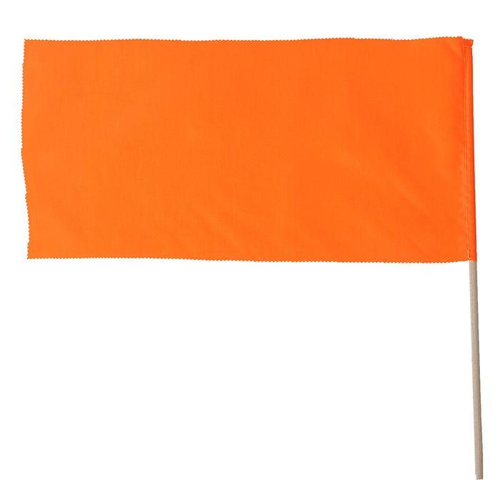 Флажок, длина 40 см, 20х40, цвет оранжевый