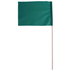 Флажок, длина 40 см, 15х20, цвет зелёный