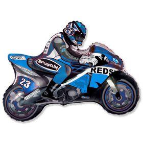 """Шар фольгированный 30"""" «Мотоциклист», цвет синий"""