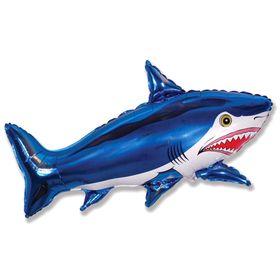 """Шар фольгированный 30"""" """"Акула большая"""", цвет синий"""