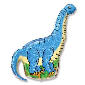 """Шар фольгированный 30"""" «Динозавр», цвет голубой"""