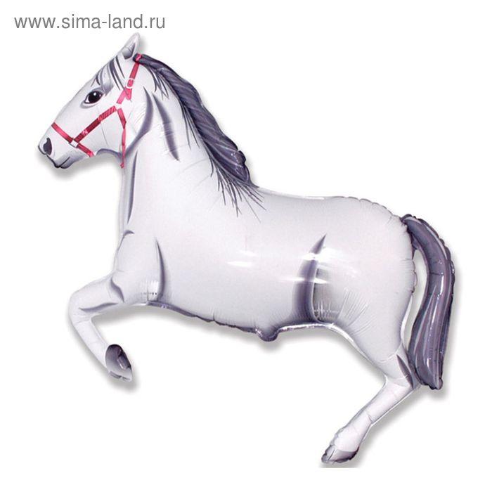 """Шар фольгированный 30"""" """"Лошадь"""", цвет белый"""