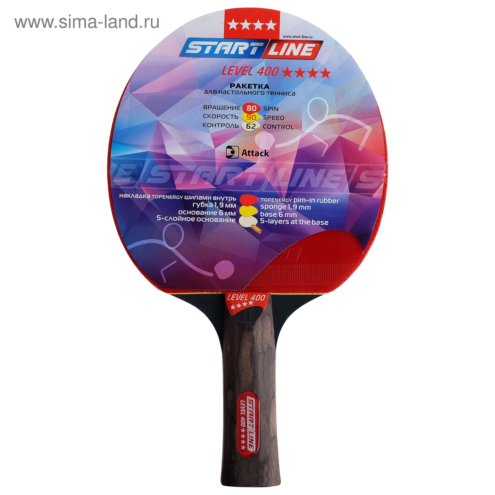Ракетка для настольного тенниса Start line Level 400 с анатомической ручкой 664cd8a20bf71