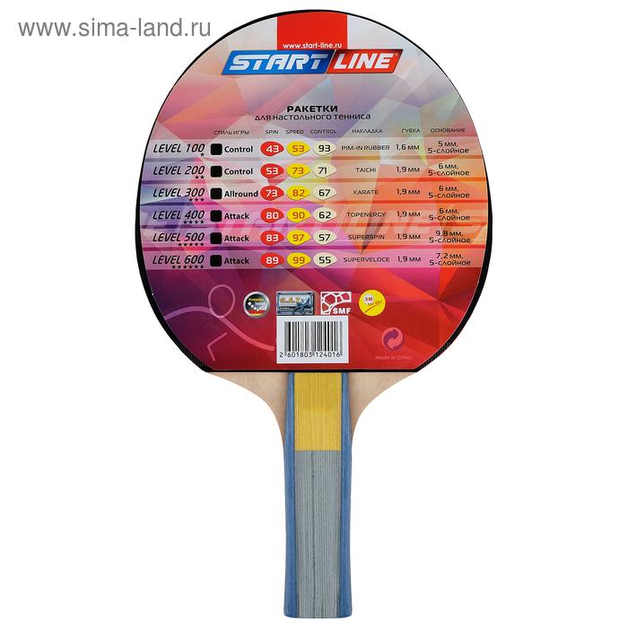Ракетка для настольного тенниса Start line Level 300 с анатомической  ручкой. prev e23c2a90cc3ad