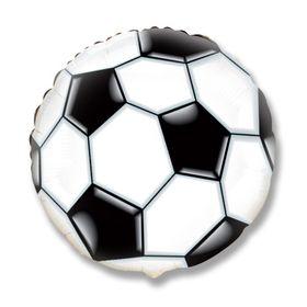 """Шар фольгированный 18"""" «Футбольный мяч», круг"""