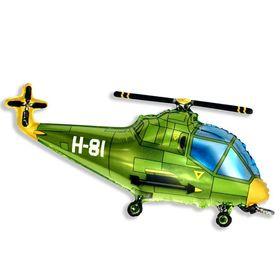"""Шар фольгированный 30"""" «Вертолёт», цвет зелёный"""