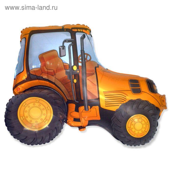 """Шар фольгированный 30"""" """"Трактор"""", цвет оранжевый"""