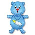 """Шар фольгированный 30"""" «Медвежонок», мальчик - фото 465819"""