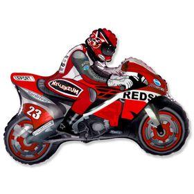 """Шар фольгированный 30"""" «Мотоциклист», цвет красный"""