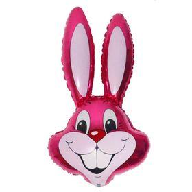 """Шар фольгированный 24"""" «Кролик», цвет малиновый"""