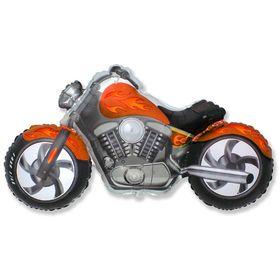 """Шар фольгированный 30"""" «Мотоцикл», цвет оранжевый"""