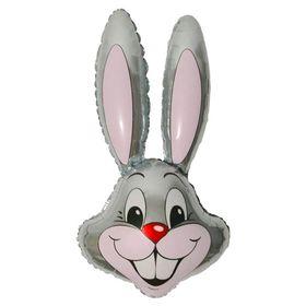 """Шар фольгированный 24"""" «Кролик», цвет серый"""
