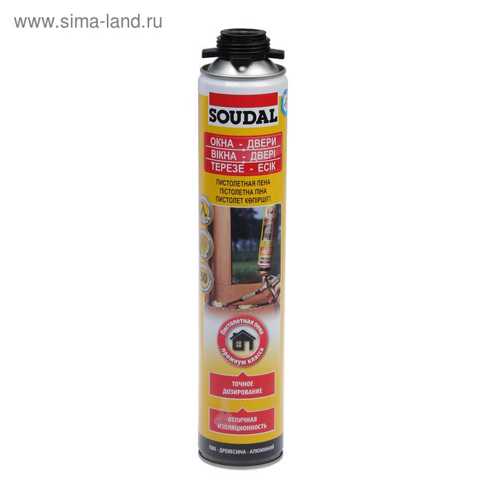 Пена Soudal, пистолетная, желтая, 750 мл