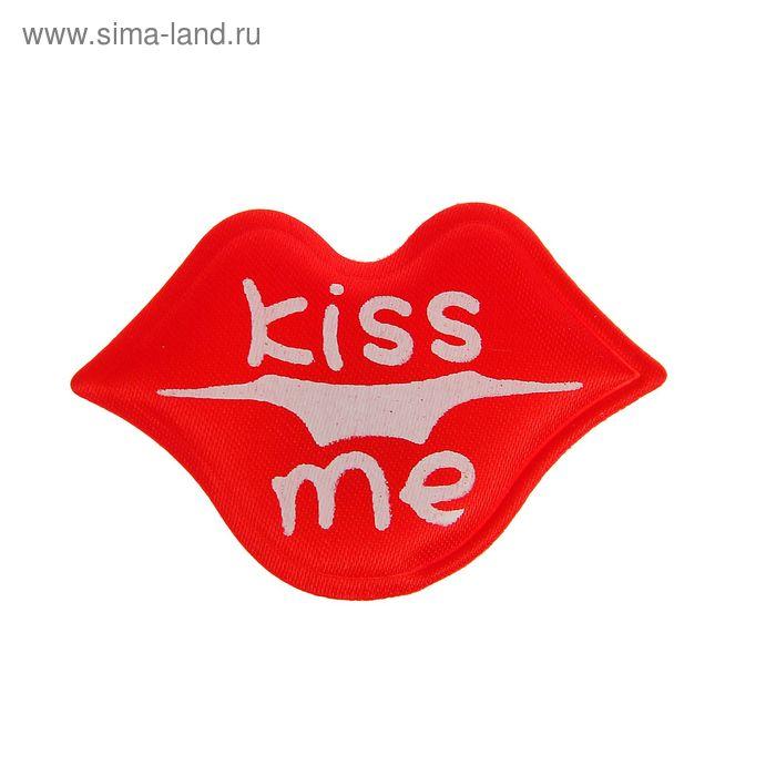 """Сердечки-наклейки """"Поцелуй"""", набор 12 шт., цвет красный"""