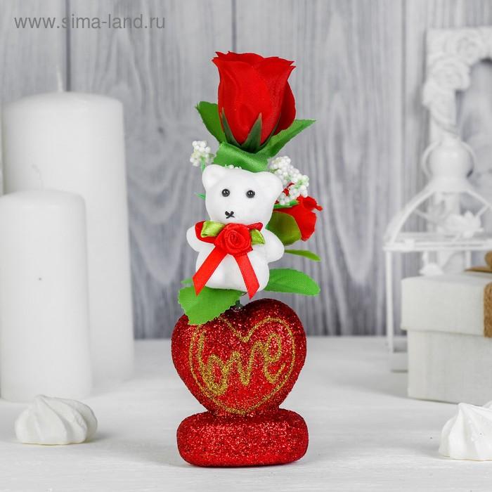 """Декор-украшение для букетов """"Мишка с цветочками"""""""