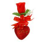 """Декор-украшение для букетов """"Цветочек с сердечком"""""""