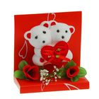 """Декор-украшение """"Влюбленные мишки с сердечком"""" в коробочке"""