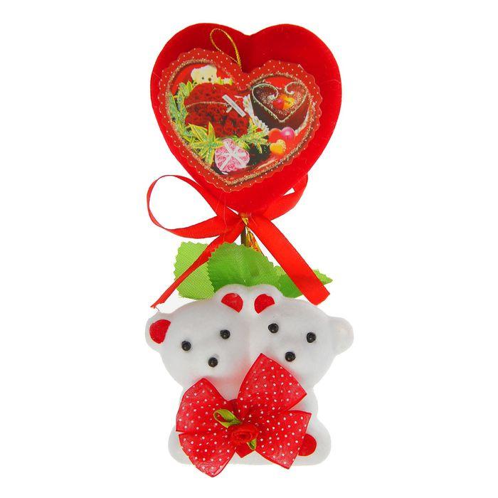 """Декор-украшение """"Мишки с сердечком и открыткой"""" в коробочке"""