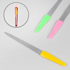 Пилка металлическая для ногтей, 17 см, цвет МИКС в Донецке