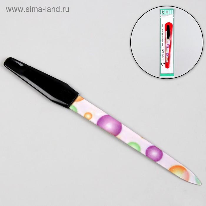Пилка металлическая для ногтей, 14см, разноцветная