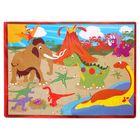 Развивающий коврик-пазл «Динозавры», 28 элементов, цвета МИКС