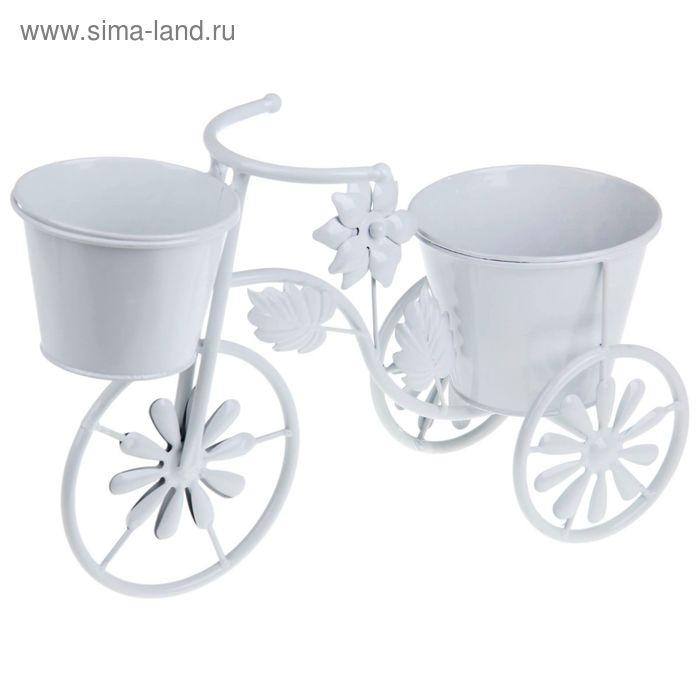 """Кашпо двойное """"Велосипед"""""""