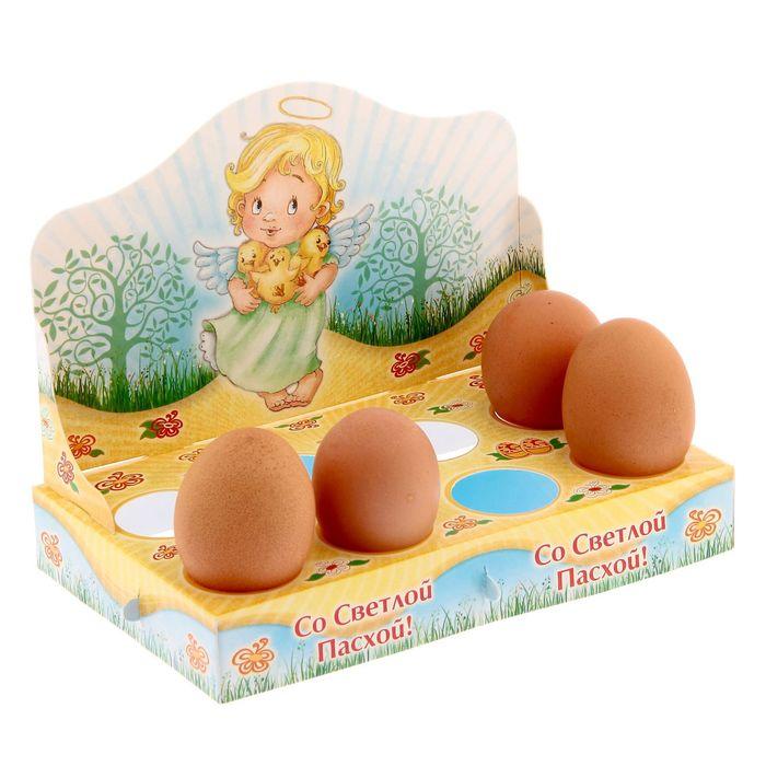 "Подставка пасхальная на 8 яиц ""Со Светлой Пасхой! Ангел"""
