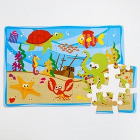 Развивающий коврик-пазл «Морское дно», 28 элементов, цвета МИКС Ош