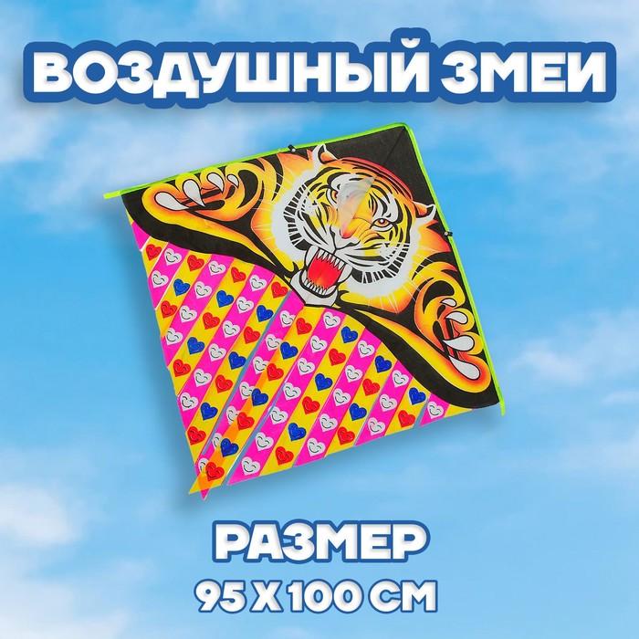 """Воздушный змей """"Тигр"""" с леской"""