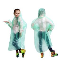 """Дождевик детский унисекс """"Непромокайка"""", универсальный размер, цвет зелёный"""