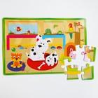 Развивающий коврик-пазл «Домашние животные», 28 элементов, цвета МИКС