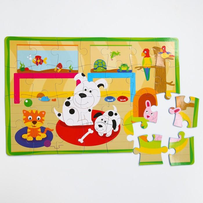 Развивающий коврик - пазл «Домашние животные», 28 элементов