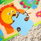 Развивающий коврик - пазл «Зоопарк», 28 элементов - фото 1034729