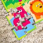 Развивающий коврик - пазл «Зоопарк», 28 элементов - фото 1034730