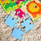 Развивающий коврик - пазл «Зоопарк», 28 элементов - фото 1034731