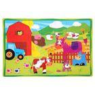 Развивающий коврик-пазл «Ферма», 28 элементов, цвета МИКС