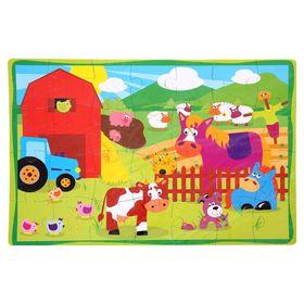 Развивающий коврик-пазл «Ферма», 28 элементов, цвета МИКС Ош