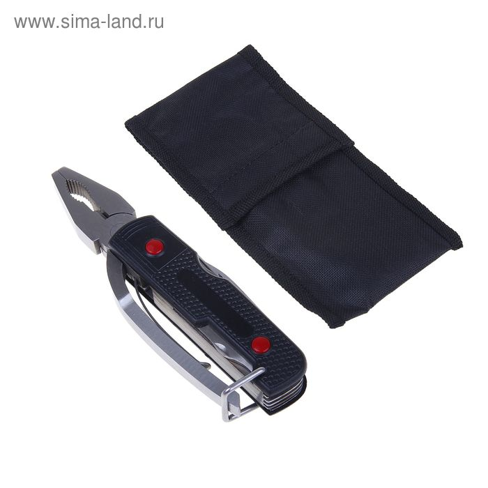 Инструмент многофункциональный 7в1, в чехле, цвет черный