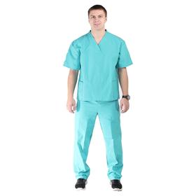 Костюм хирурга, размер 48-50, рост 170-176 см, цвет изумрудный Ош
