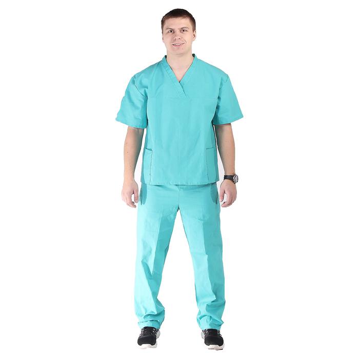 Костюм хирурга, размер 48-50, рост 170-176 см, цвет изумрудный