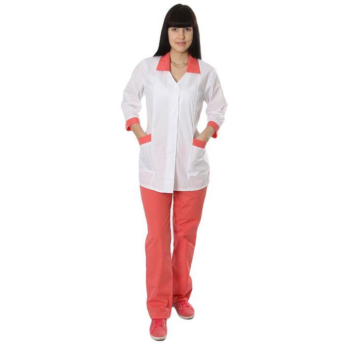 """Костюм медицинский женский """"Ева"""", размер 52-54, рост 170-176 см, цвет розовый"""