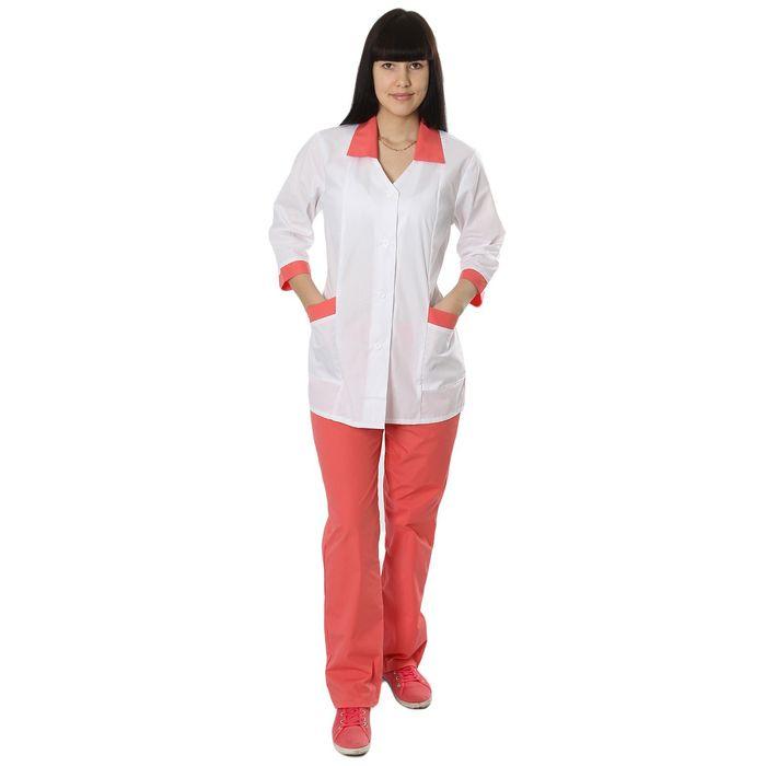 """Костюм медицинский женский """"Ева"""", размер 48-50, рост 170-176 см, цвет розовый"""