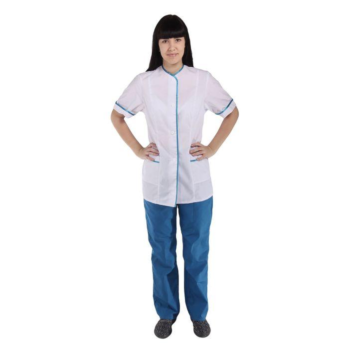Костюм медицинский женский, короткий рукав, размер 44-46, рост 170-176 см