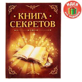Блокнот 'Книга секретов', твёрдая обложка, А7, 64 листа Ош