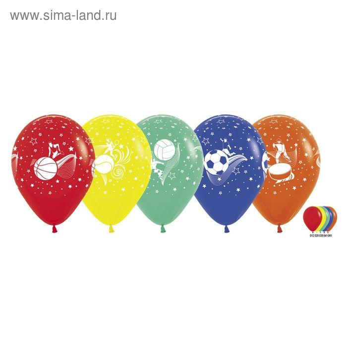 """Шар латексный 12"""" """"Спорт"""", пастель, набор 100 шт., цвета МИКС"""