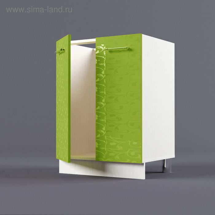 Шкаф напольный под накладную мойку 850*600*450 Лайм
